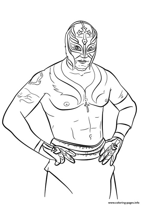 Rey Mysterio Coloring Page Coloring Pages Printable Mysterio Coloring Pages