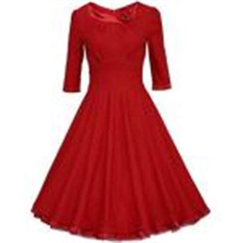 rotes swing kleid knielanges kleid g 252 nstige knielange kleider f 252 r damen