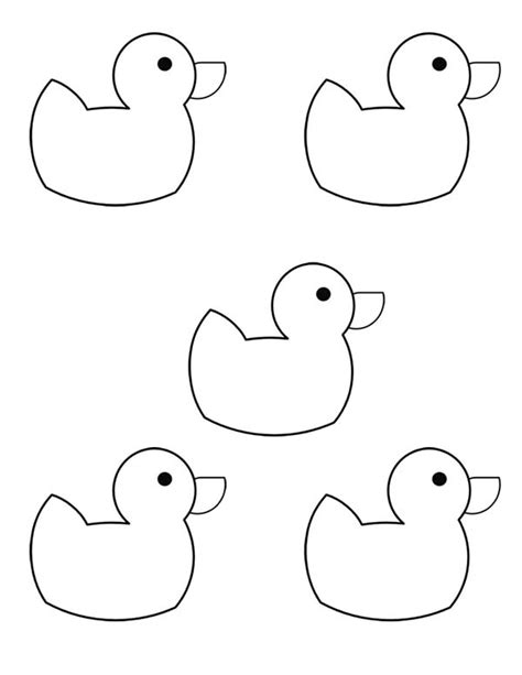 five little ducks coloring pages rubber duck coloring page