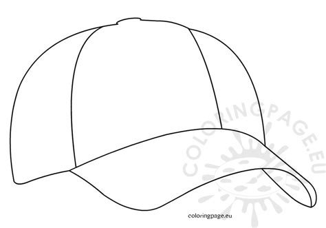 free coloring pages of baseball cap