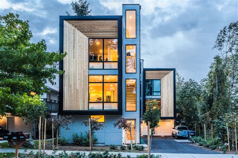 Lake Cottage Plans by Modern Prefab Townhomes In West Seattle Design Milk
