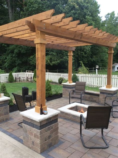 westerville patio pergola fire pit traditional patio