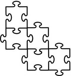 4 puzzle pieces template clipart best