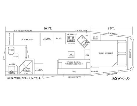 horse trailer floor plans living quarter horse trailer 16 short wall floor plan