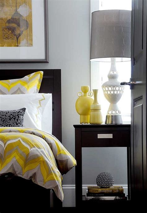 yellow and grey cheerful sophistication 25 elegant gray and yellow bedrooms