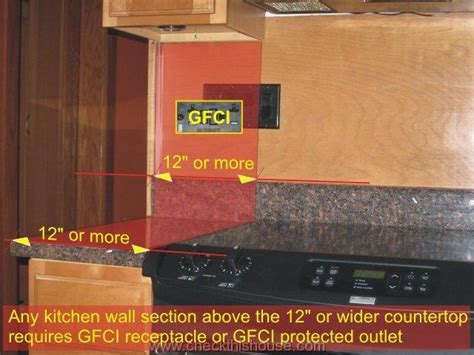 Gfci Receptacles In Kitchen by Kitchen Gfci Receptacle And Other Electrical Requirements