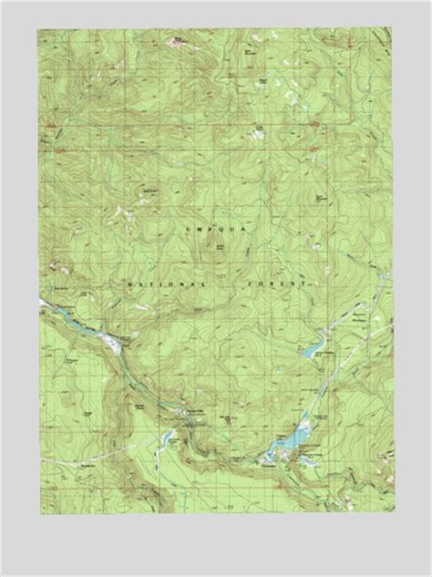 map of oregon waterfalls toketee falls or topographic map topoquest