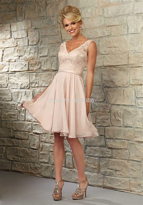 Bridesmaid Dresses Stores In Ct - ct0024 cheap dress v neck coral pink knee