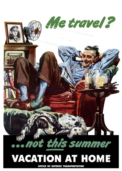 vacation at home ww2 poster by war is hell store