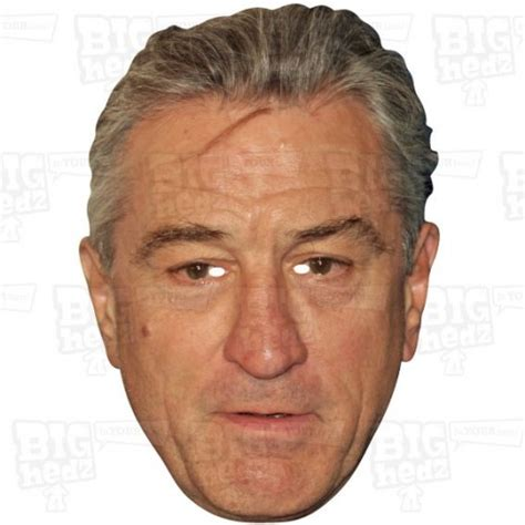 robert de niro face celebrity and personalised card face masks elastic or on