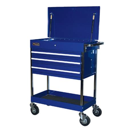 Service Cart With Drawers by 34 Professional Series Service Cart With 3 Drawers Blue
