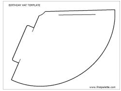 Free Printable Birthday Hat Template For How To Make Cone Hats Princess Hats Crowns Etc Free Printable Paper Megaphone Template