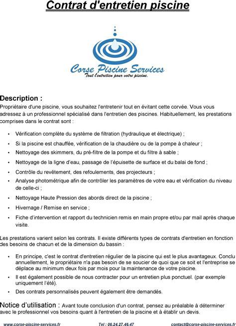 Lettre Entreprise De Nettoyage contrat type gratuit entreprise de nettoyage