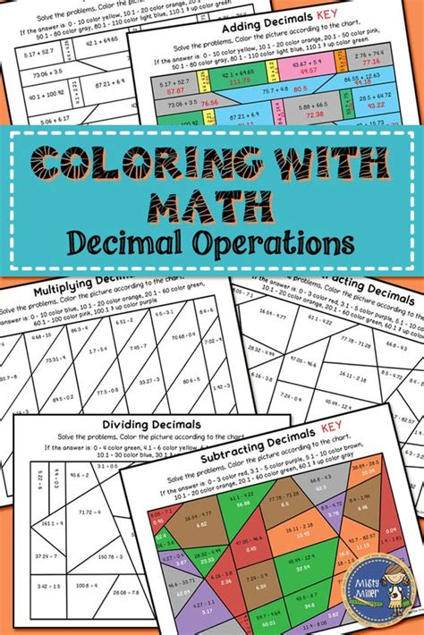 math coloring pages decimals decimal the gr and math on pinterest