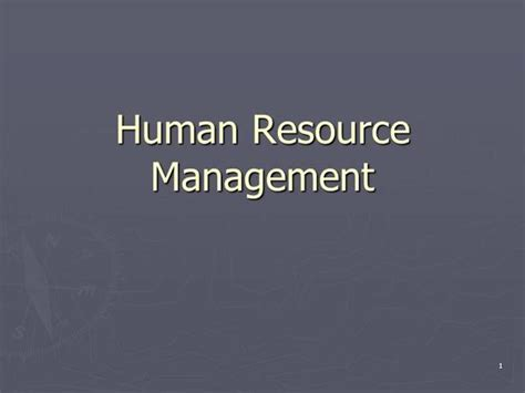 Hrm Ppt For Mba by Hrm Ppt According To Mba Jntu H Syllabus Authorstream