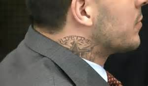 prison gang tattoos aaron hernandez got a neck tattoo in prison larry brown