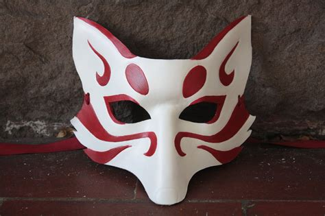 Kitsune Mask Papercraft - kitsune on foxes white fox and japanese folklore