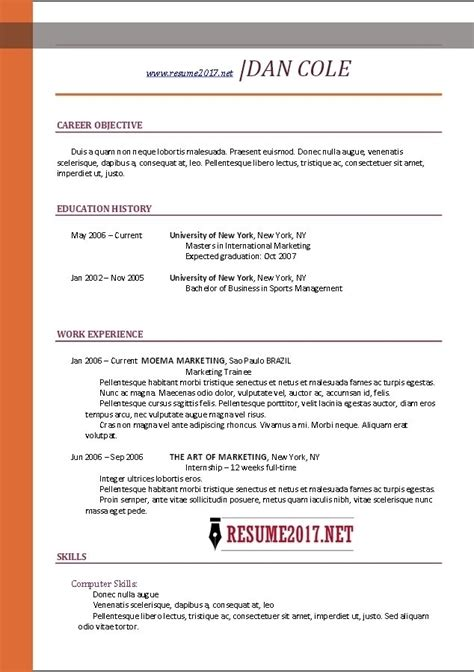 Resume Builder Template Free by Free Resume Templates 2017 Learnhowtoloseweight Net