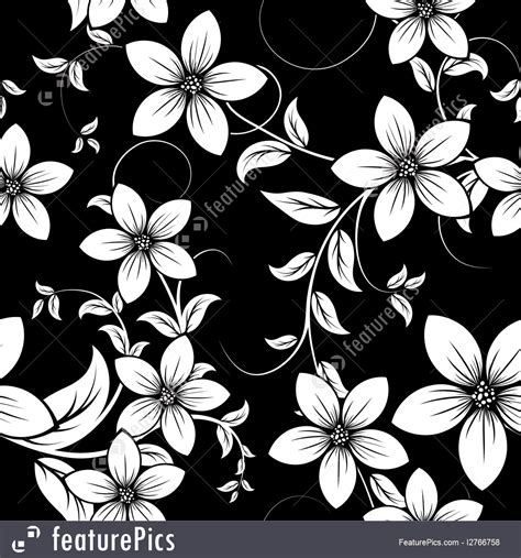 Black And White Drapery Fabric Abstract Patterns Black And White Floral Background