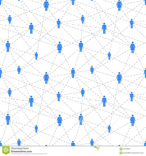 Design Pattern Network | social network with simple people icons seamless pattern