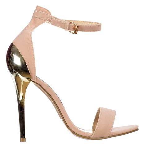 gold strappy mid heel sandals shoekandi high back peep toe mid heels gold heel strappy