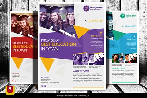 high school flyer template by satgur on deviantart