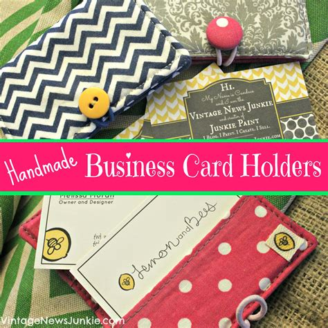 Handmade Cards Business From Home - cutie patootie handmade business card holders