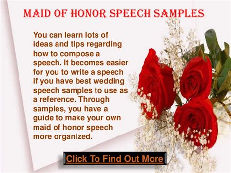 of honor speech templates of honor wedding speech sles