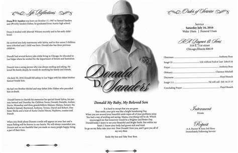 donald sanders obituary aa rayner and sons funeral home