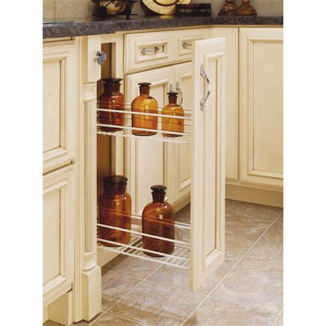 side mount kitchen base cabinet pull out organizers by rev