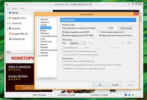 come aprire le porte router per utorrent salvatore