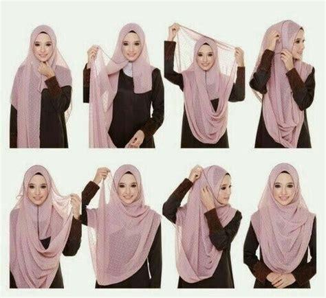 tutorial pashmina hitam 10 best cara pakai shawl tudung labuh yang cantik dan