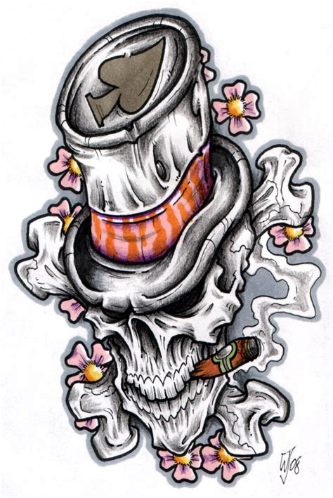 top hat skull by crazygrafix on deviantart