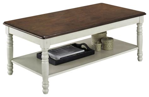 homelegance ohana 3 coffee table set in white and