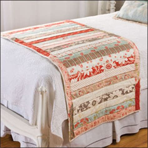 Free Bed Runner Quilt Patterns by Quilted Bed Topper