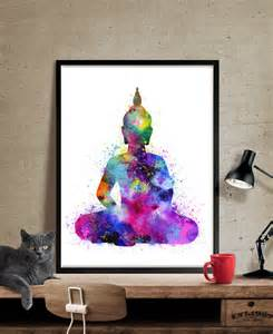 Stickers For Walls Quotes buddha wall art buddha painting yoga print watercolor