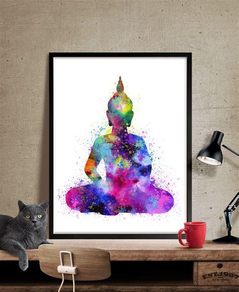 Modern Home Design Thailand buddha wall art buddha painting yoga print watercolor