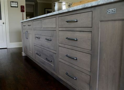 staining maple cabinets spaces transitional  white