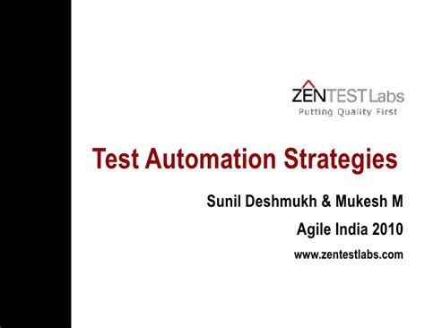 test automation strategy document template choice image
