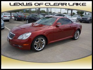 how does cars work 2006 lexus sc navigation system find used 2006 lexus sc 430 2door convertible clean car fax navigation in friendswood texas