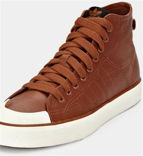 brown basketball shoes adidas adidas nizza classic 78 hi leather mens basketball
