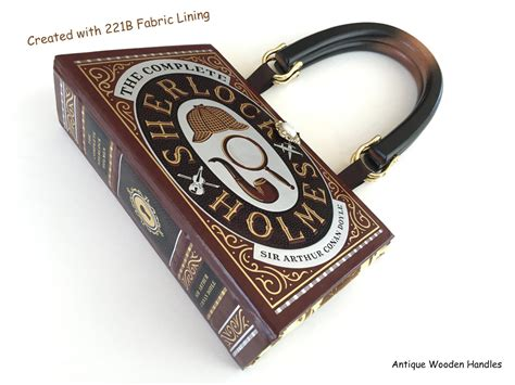 Name Holmess Purse by Sherlock Book Purse With 221b Wallpaper Fabric Accents