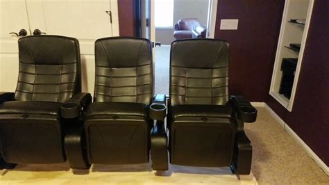 small home theater setup  real  theater seats