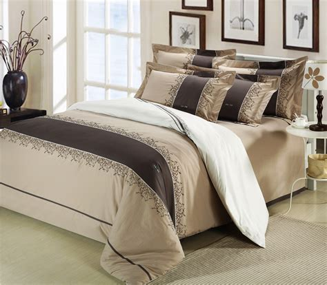bedroom linen sets wholesale of 100 cotton embroidery patchwork bedding set duvet cover flat sheet pillowcase bed