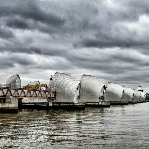 thames barrier uk the thames barrier london uk is located downstream of