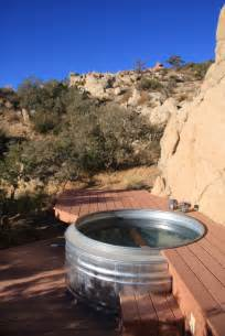 a real tub from a cattle watering trough outdoor