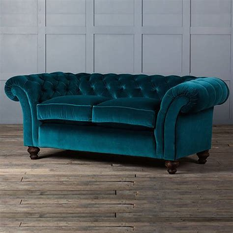 Velvet Chesterfield Sofas The Monty Velvet Chesterfield Sofa By Authentic Furniture Notonthehighstreet