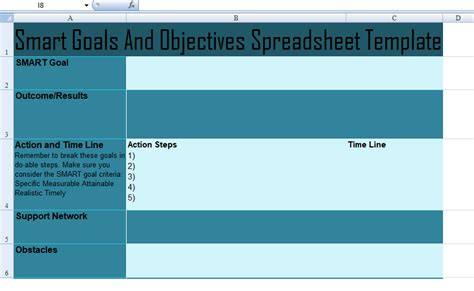 goals and objectives template excel get smart goals and objectives spreadsheet template