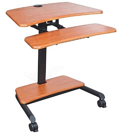 laptop stand up desk stand up laptop desk 2 locking casters
