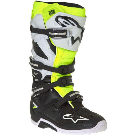 yellow motocross boots alpinestars 2017 mx new tech 7 black white fluro yellow